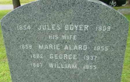 BOYER, JULES - Berkshire County, Massachusetts | JULES BOYER - Massachusetts Gravestone Photos