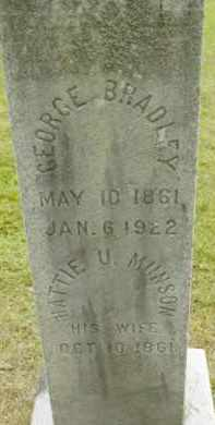 BRADLEY, GEORGE - Berkshire County, Massachusetts | GEORGE BRADLEY - Massachusetts Gravestone Photos