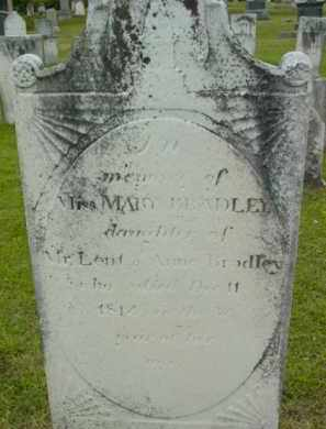BRADLEY, MARY - Berkshire County, Massachusetts | MARY BRADLEY - Massachusetts Gravestone Photos