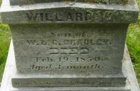 BRADLEY, WILLARD W - Berkshire County, Massachusetts | WILLARD W BRADLEY - Massachusetts Gravestone Photos