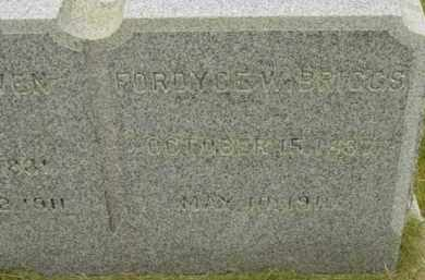 BRIGGS, FORDYCE W - Berkshire County, Massachusetts | FORDYCE W BRIGGS - Massachusetts Gravestone Photos