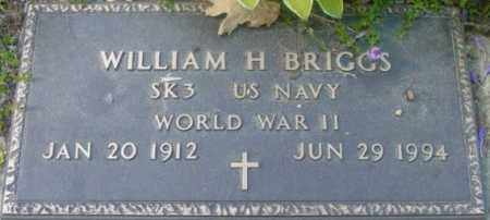 BRIGGS, WILLIAM H - Berkshire County, Massachusetts | WILLIAM H BRIGGS - Massachusetts Gravestone Photos