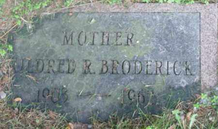 BRODERICK, MILDRED R - Berkshire County, Massachusetts | MILDRED R BRODERICK - Massachusetts Gravestone Photos
