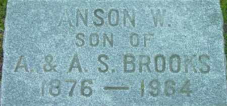 BROOKS, ANSON W - Berkshire County, Massachusetts | ANSON W BROOKS - Massachusetts Gravestone Photos