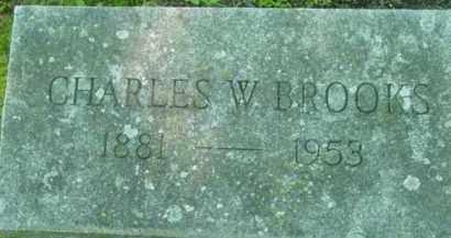 BROOKS, CHARLES W - Berkshire County, Massachusetts | CHARLES W BROOKS - Massachusetts Gravestone Photos