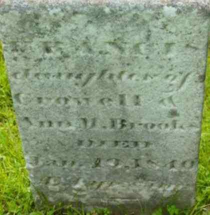 BROOKS, FRANCIS - Berkshire County, Massachusetts | FRANCIS BROOKS - Massachusetts Gravestone Photos