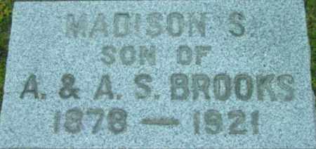 BROOKS, MADISON S - Berkshire County, Massachusetts | MADISON S BROOKS - Massachusetts Gravestone Photos