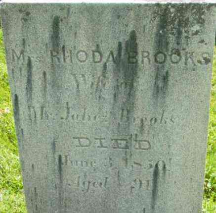 BROOKS, RHODA - Berkshire County, Massachusetts | RHODA BROOKS - Massachusetts Gravestone Photos