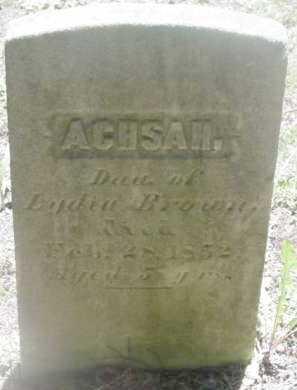 BROWN, ACHSAH - Berkshire County, Massachusetts | ACHSAH BROWN - Massachusetts Gravestone Photos