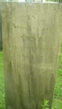BROWN, ANNA - Berkshire County, Massachusetts   ANNA BROWN - Massachusetts Gravestone Photos