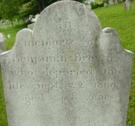 BROWN, BENJAMIN - Berkshire County, Massachusetts | BENJAMIN BROWN - Massachusetts Gravestone Photos