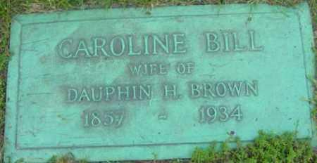 BROWN, CAROLINE - Berkshire County, Massachusetts | CAROLINE BROWN - Massachusetts Gravestone Photos
