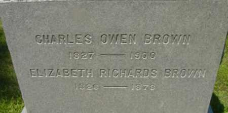 BROWN, CHARLES OWEN - Berkshire County, Massachusetts | CHARLES OWEN BROWN - Massachusetts Gravestone Photos