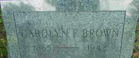 BROWN, CAROLYN F - Berkshire County, Massachusetts   CAROLYN F BROWN - Massachusetts Gravestone Photos