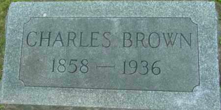 BROWN, CHARLES - Berkshire County, Massachusetts | CHARLES BROWN - Massachusetts Gravestone Photos