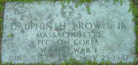 BROWN (WWI), DAUPHIN H - Berkshire County, Massachusetts | DAUPHIN H BROWN (WWI) - Massachusetts Gravestone Photos