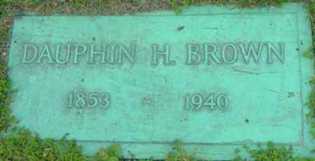 BROWN, DAUPHIN H - Berkshire County, Massachusetts   DAUPHIN H BROWN - Massachusetts Gravestone Photos