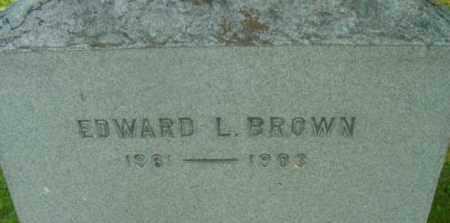 BROWN, EDWARD L - Berkshire County, Massachusetts   EDWARD L BROWN - Massachusetts Gravestone Photos