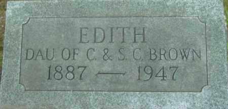 BROWN, EDITH - Berkshire County, Massachusetts   EDITH BROWN - Massachusetts Gravestone Photos