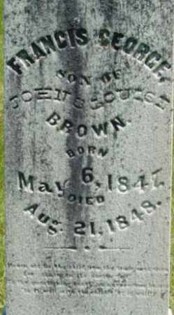 BROWN, FRANCIS GEORGE - Berkshire County, Massachusetts | FRANCIS GEORGE BROWN - Massachusetts Gravestone Photos