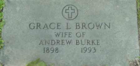 BURKE, GRACE L - Berkshire County, Massachusetts   GRACE L BURKE - Massachusetts Gravestone Photos