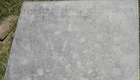 BROWN, HOPESTILL - Berkshire County, Massachusetts   HOPESTILL BROWN - Massachusetts Gravestone Photos