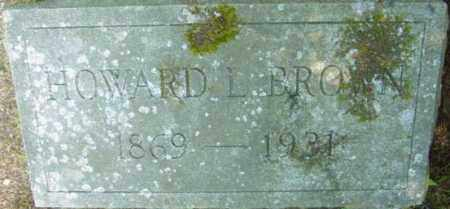 BROWN, HOWARD L - Berkshire County, Massachusetts | HOWARD L BROWN - Massachusetts Gravestone Photos