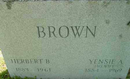 BROWN, HERBERT B - Berkshire County, Massachusetts   HERBERT B BROWN - Massachusetts Gravestone Photos