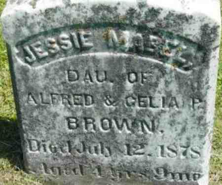 BROWN, JESSIE MABEL - Berkshire County, Massachusetts   JESSIE MABEL BROWN - Massachusetts Gravestone Photos