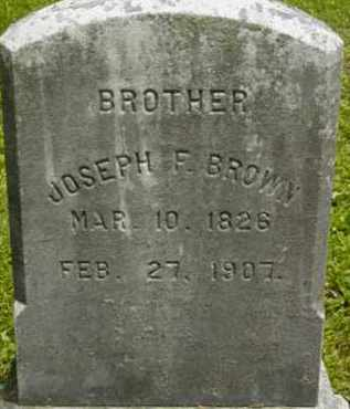 BROWN, JOSEPH F - Berkshire County, Massachusetts | JOSEPH F BROWN - Massachusetts Gravestone Photos