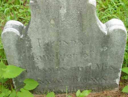 BROWN, LUCINDA - Berkshire County, Massachusetts | LUCINDA BROWN - Massachusetts Gravestone Photos