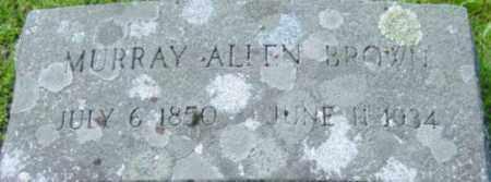BROWN, MURRAY ALLEN - Berkshire County, Massachusetts   MURRAY ALLEN BROWN - Massachusetts Gravestone Photos