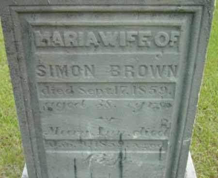 BROWN, MARIA - Berkshire County, Massachusetts | MARIA BROWN - Massachusetts Gravestone Photos