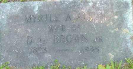 BROWN, MYRTLE A - Berkshire County, Massachusetts | MYRTLE A BROWN - Massachusetts Gravestone Photos
