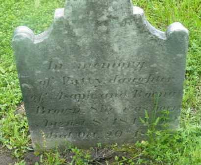 BROWN, PATTY - Berkshire County, Massachusetts | PATTY BROWN - Massachusetts Gravestone Photos