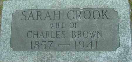 BROWN, SARAH - Berkshire County, Massachusetts | SARAH BROWN - Massachusetts Gravestone Photos