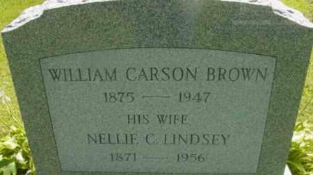 BROWN, WILLIAM CARSON - Berkshire County, Massachusetts | WILLIAM CARSON BROWN - Massachusetts Gravestone Photos
