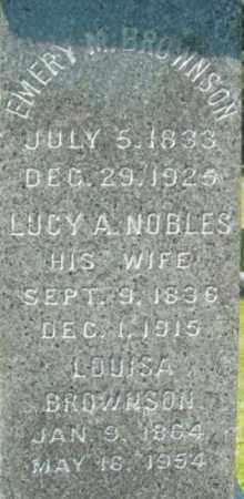 BROWNSON, LUCY A - Berkshire County, Massachusetts | LUCY A BROWNSON - Massachusetts Gravestone Photos
