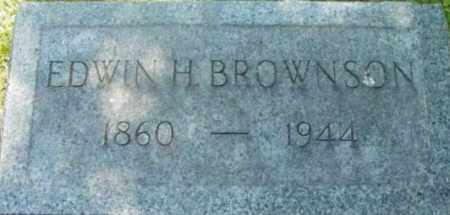 BROWNSON, EDWIN H - Berkshire County, Massachusetts | EDWIN H BROWNSON - Massachusetts Gravestone Photos