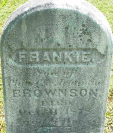 BROWNSON, FRANKIE - Berkshire County, Massachusetts | FRANKIE BROWNSON - Massachusetts Gravestone Photos