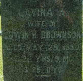 BROWNSON, LAVINA - Berkshire County, Massachusetts   LAVINA BROWNSON - Massachusetts Gravestone Photos