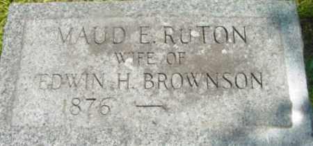 BROWNSON, MAUD E - Berkshire County, Massachusetts | MAUD E BROWNSON - Massachusetts Gravestone Photos