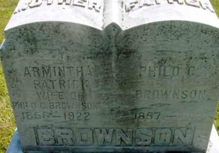 BROWNSON, ARMINTHA - Berkshire County, Massachusetts | ARMINTHA BROWNSON - Massachusetts Gravestone Photos