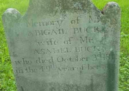 BUCK, ABIGAIL - Berkshire County, Massachusetts | ABIGAIL BUCK - Massachusetts Gravestone Photos
