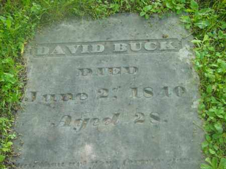 BUCK, DAVID - Berkshire County, Massachusetts | DAVID BUCK - Massachusetts Gravestone Photos