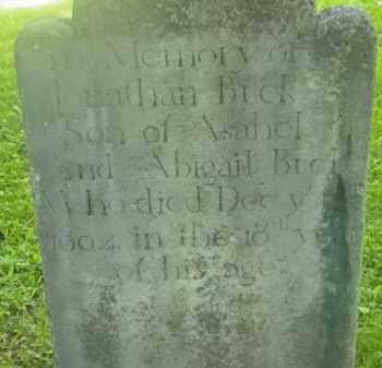 BUCK, JONATHAN - Berkshire County, Massachusetts | JONATHAN BUCK - Massachusetts Gravestone Photos