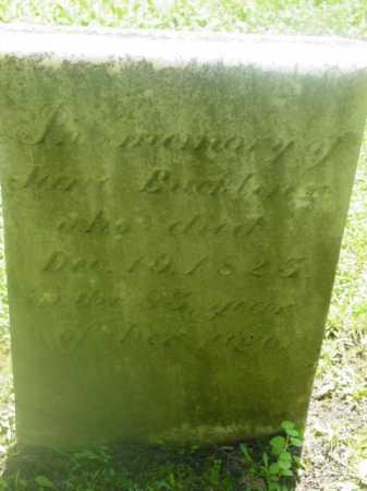 BUCKLIN, JANE - Berkshire County, Massachusetts | JANE BUCKLIN - Massachusetts Gravestone Photos