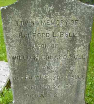BULL, HALFORD L - Berkshire County, Massachusetts | HALFORD L BULL - Massachusetts Gravestone Photos