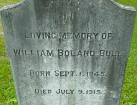 BULL, WILLIAM BOLAND - Berkshire County, Massachusetts | WILLIAM BOLAND BULL - Massachusetts Gravestone Photos