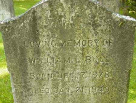 BULL, WILLIAM L - Berkshire County, Massachusetts | WILLIAM L BULL - Massachusetts Gravestone Photos